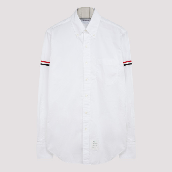 White cotton shirt with...