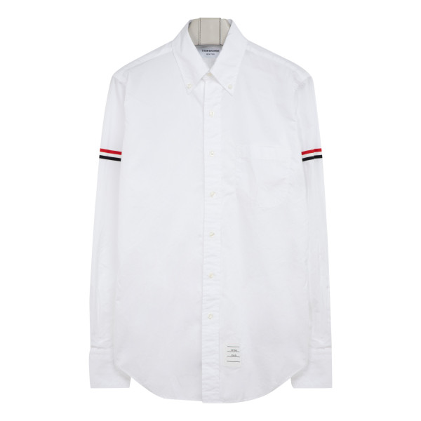 White cotton shirt with signature band