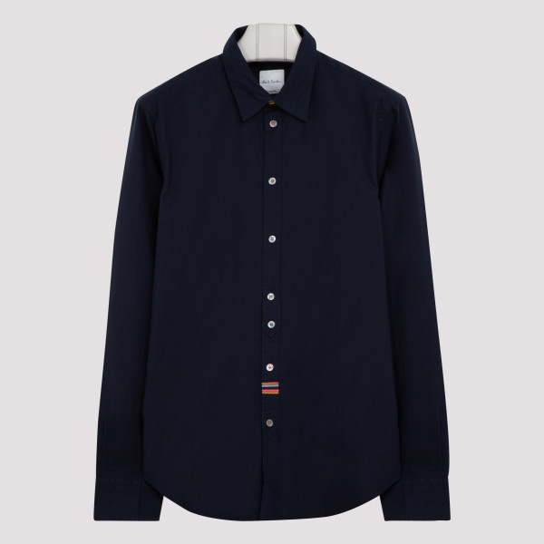 Blue cotton shirt with...
