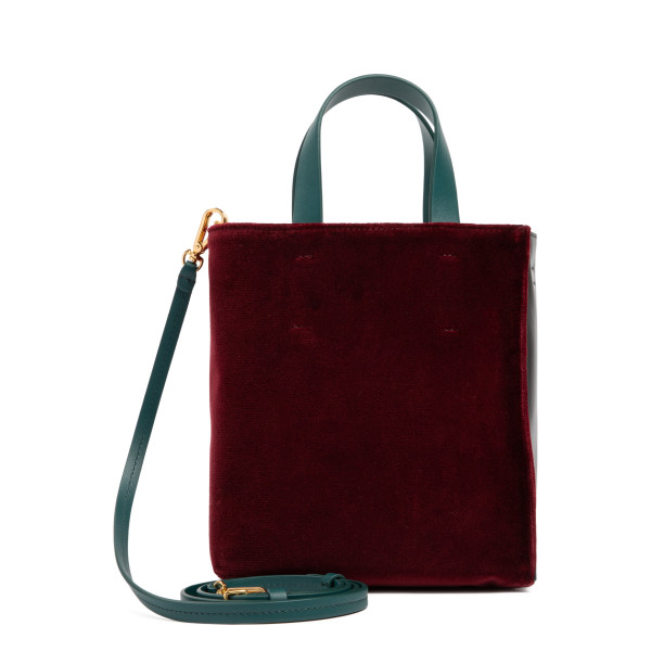 Museo leather and velvet mini tote bag