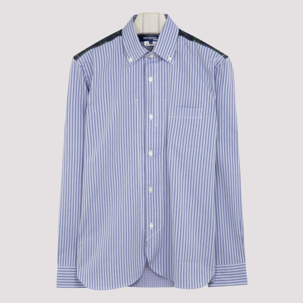 Striped cotton shirt with...