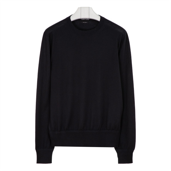 Black cashmere and silk sweater