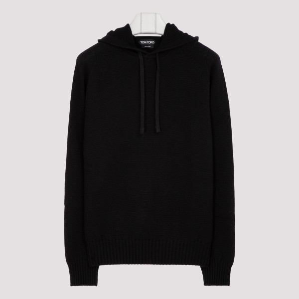 Black cashmere sweatshirt