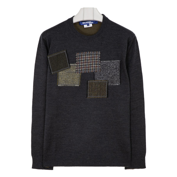 Patchwork detailing wool sweater