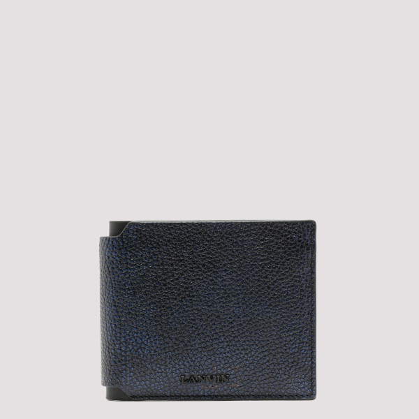 Black and blue bifold wallet