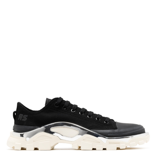 Black and ivory Detroit runner sneakers