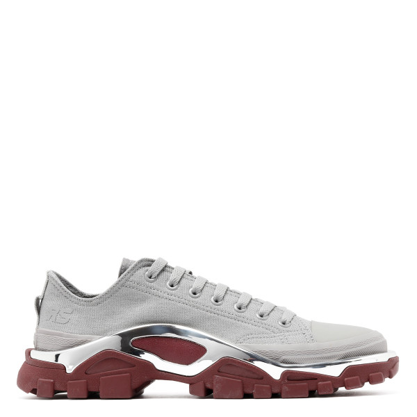 Grey and burgundy Detroit runner sneakers
