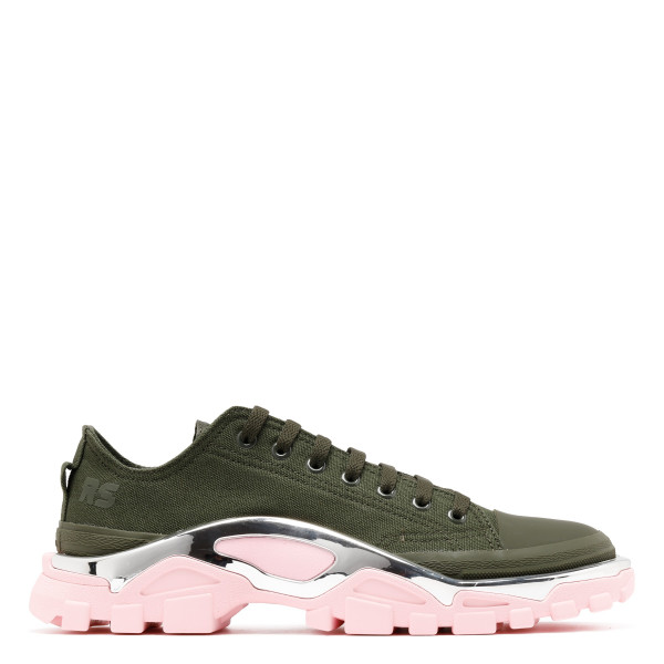 Green and pink Detroit runner sneakers