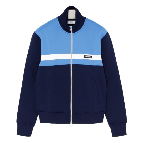 Blue and light blue sweat jacket