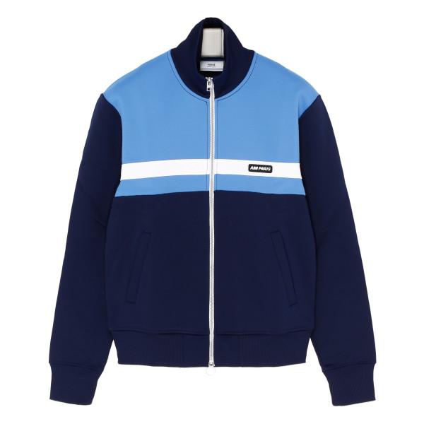 Blue and light blue sweat jacket