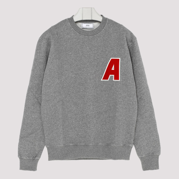 Grey melange cotton sweatshirt