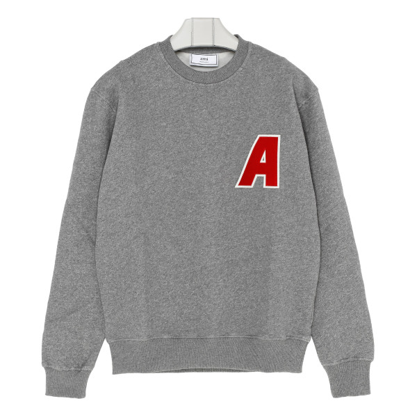 Grey melange cotton sweatshirt