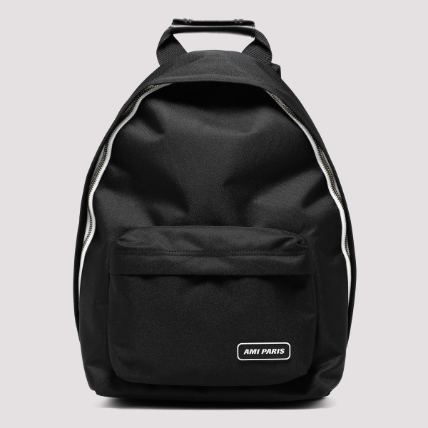 Black Backpack with logo