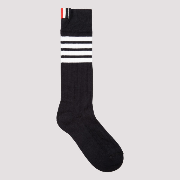 Thom Browne NAVY COTTON BAR 4 SOCKS