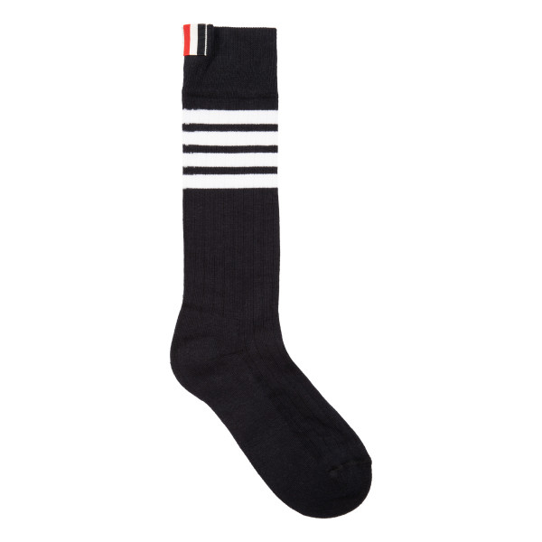 Navy cotton bar 4 socks