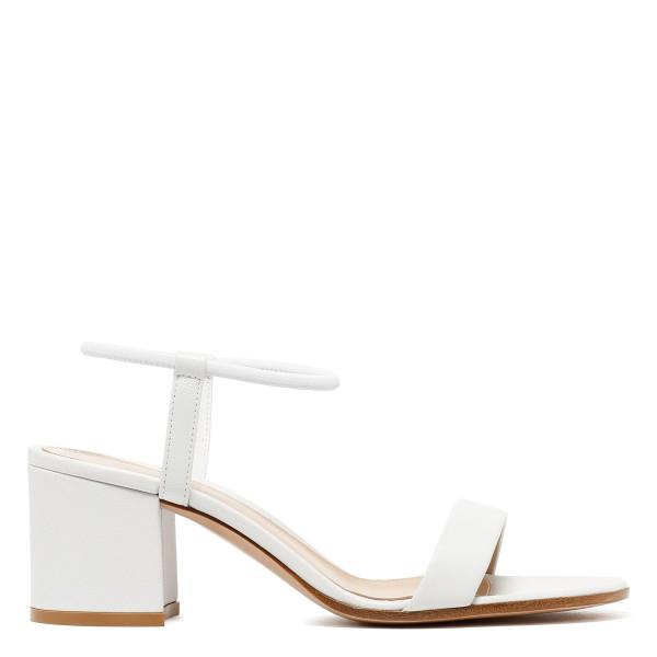 Nikki white nappa leather sandals