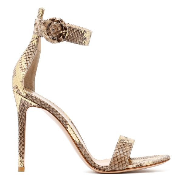 Portofino python skin sandals