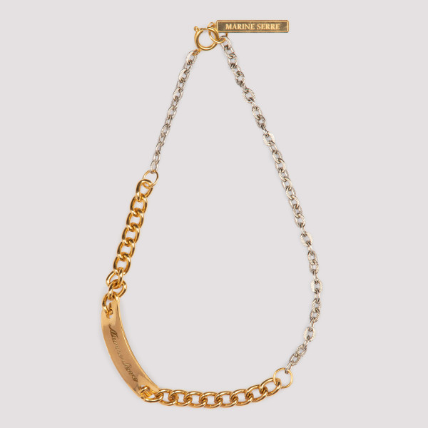 MARINE SERRE GOURMETTE GOLD AND SILVER METAL NECKLACE