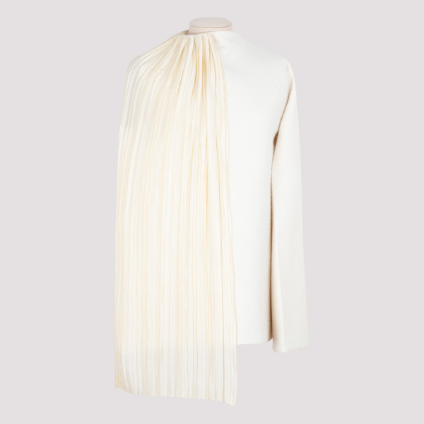 Draped plissé-panel top