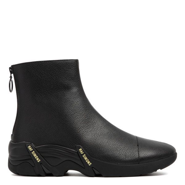 Black Cylon Leather Ankle Boots
