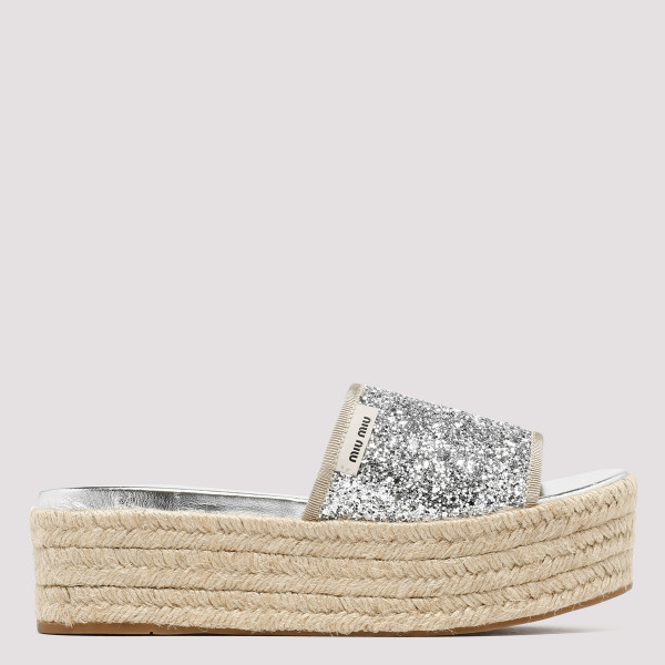 Glittered wedge sandals