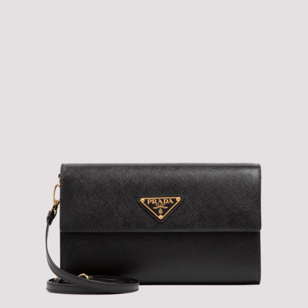 Black leather wallet with...