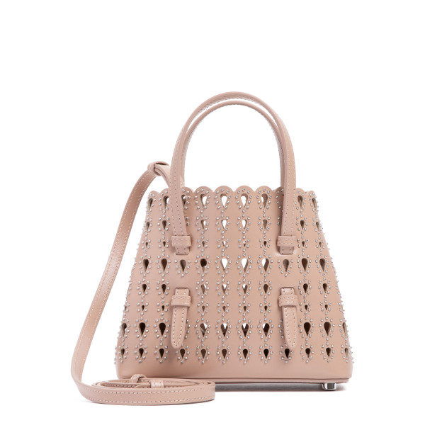 Goutte Clou sand leather tote bag