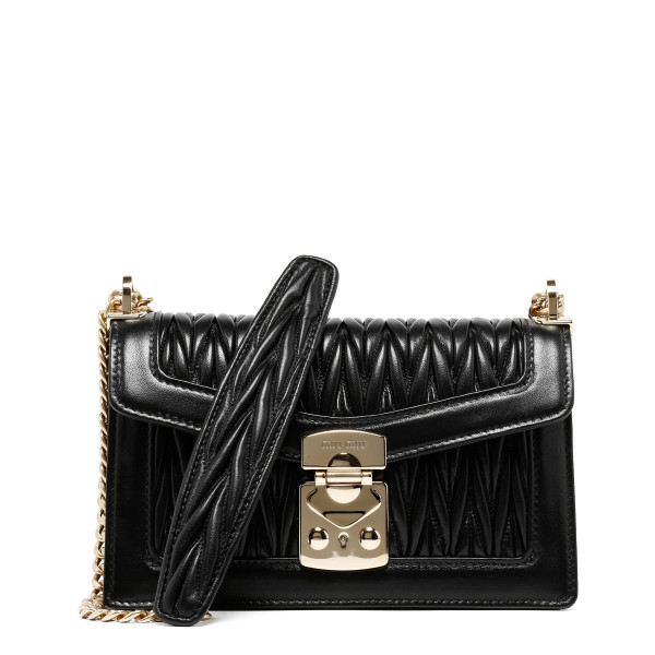 Miu Confidential black matelassé shoulder bag