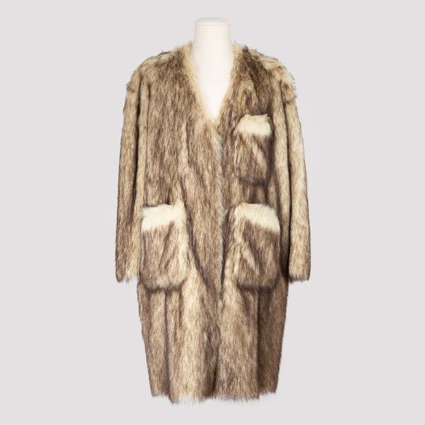 Reversible faux-fur Labo coat