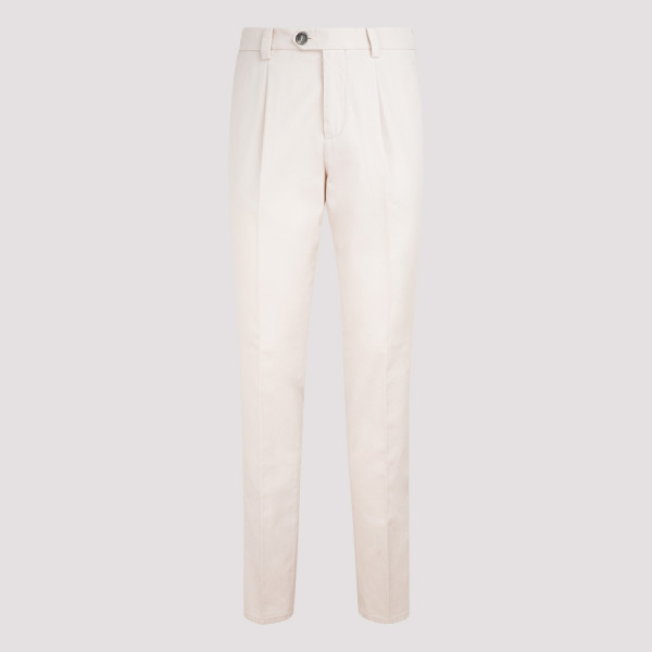 Beige straight leg chino pants