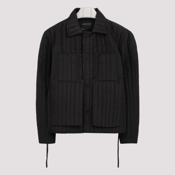 Black quilted worker jacket