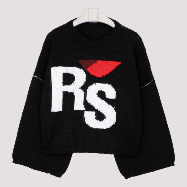 Oversized logo black sweater