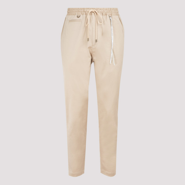 Skull logo sand cotton pants