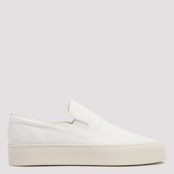 The Row MARIE H IVORY CANVAS SNEAKERS