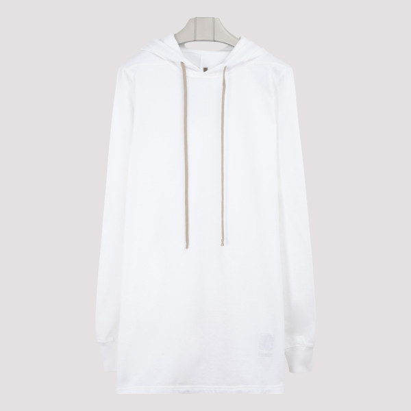 White cotton pullover hoodie