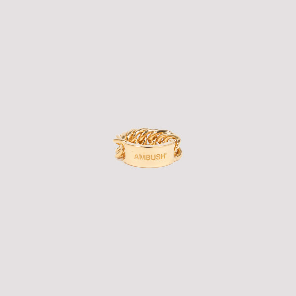 Golden chain link ring