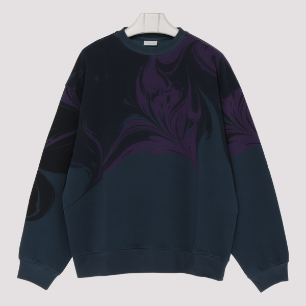Petrol blue cotton sweatshirt