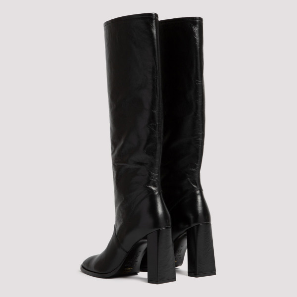 Camilla black leather boots