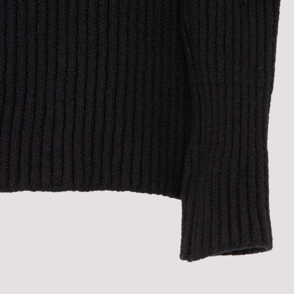 Black rib Turtleneck sweater
