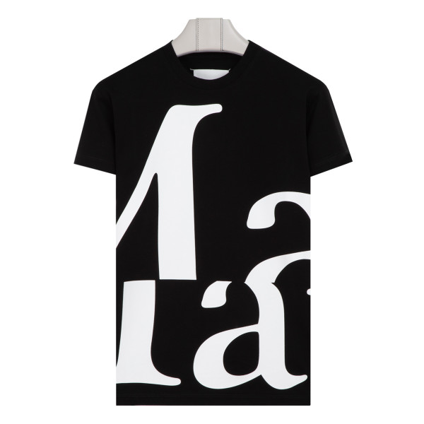 Black and white T-shirt with logo