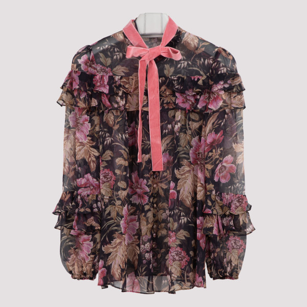 Lucky tiered frill blouse