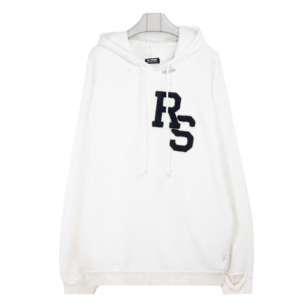 White RS badge oversized hoodie