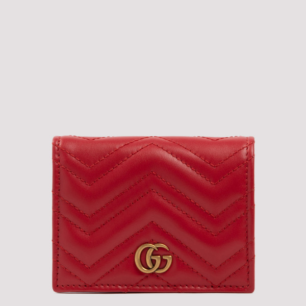 Gucci GG MARMONT RED CARD CASE WALLET
