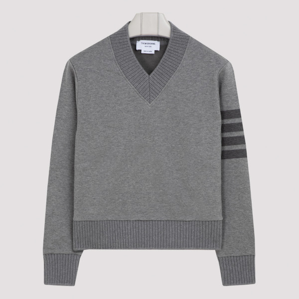 Relaxed fit V neck pullover