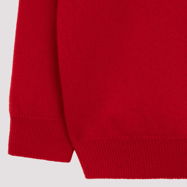 Wool and cashmere logo sweater