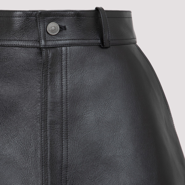 Balenciaga leather skirt