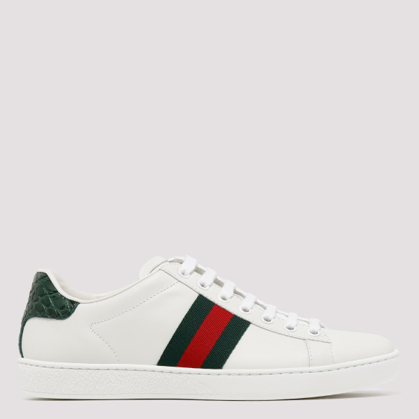 Gucci white Ace leather...