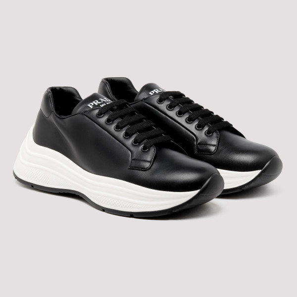 Rois black leather sneakers