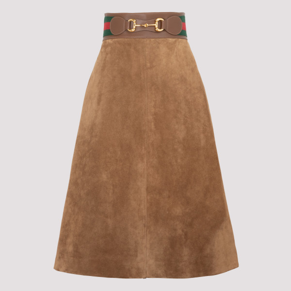Gucci brown suede leather...