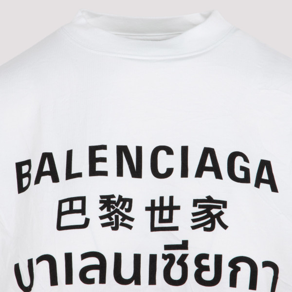 Balenciaga multi language logo oversized T-shirt